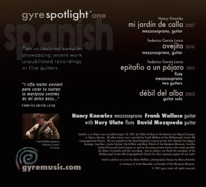 Gyre Spotlight One - Frank Wallace Spanish songs