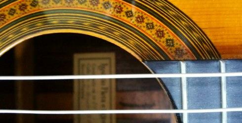 rosette of Ignacio Fleta guitar, 1964, Barcelona